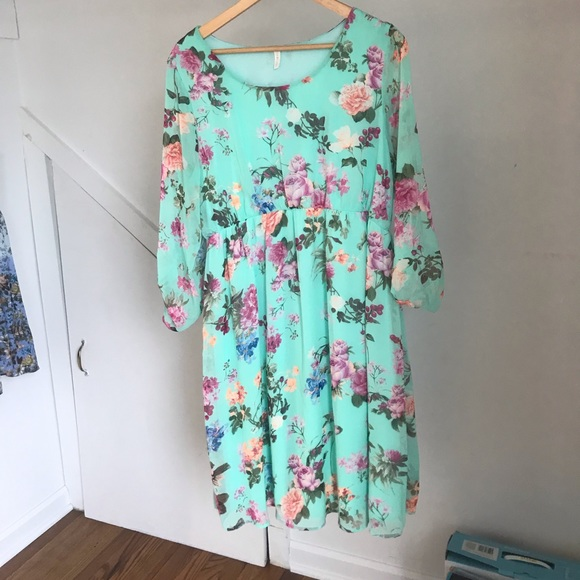 eaa19ea4b851 Pinkblush Dresses | Mint Floral Chiffon Maternity Dress | Poshmark